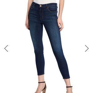 J Brand Mid-Rise Skinny Capri Jeans Scout 27